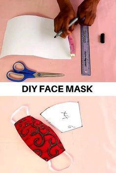 This is a video sewing tutorial on how to sew a face mask from fabric. You will find a free sewing pattern for your own face mask. DIY fabric face mask is an easy sewing project even for a beginner sewist. Diy Sewing Projects, Sewing Hacks, Sewing Tutorials, Sewing Lessons, Dress Tutorials, Sewing Basics, Easy Face Masks, Diy Face Mask, Sewing Patterns Free