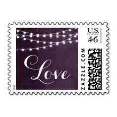 Summer String Lights Wedding Love Stamps
