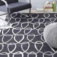 Scribble Loop Wool Rug #westelm