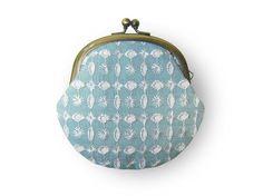 Super cute coin purse <3   Embroidered Blue Sparkle Sky Coin Purse