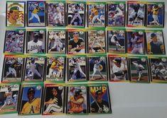 1989 Donruss Oakland Athletics A'S Team Set of 29 Baseball Cards #Athletics #OaklandAthletics