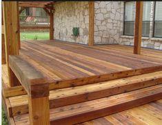 Backyard deck stain Ideas for 2019 Deck Stain Colors, Deck Colors, Wood Colors, House Colors, Cedar Deck Stain, Fence Stain, Outdoor Rooms, Outdoor Ideas, Backyard Ideas