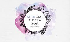 SOULcial Media Circle logo design for Danielle from Healing Paige. Design by Tegan Swyny of Colour Cult. Graphic and web design, illustration and eBooks Brisbane.