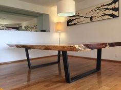 moderna mesa a la medida de madera de parota