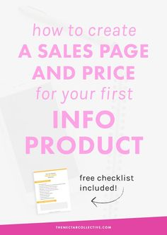 How to Create a Sales Page and Price Your First Info Product (#InfoProductBiz Series) | Are you a blogger or infopreneur who wants to launch her first digital product? This tutorial includes exactly what to put in your sales page AND how to price your pro