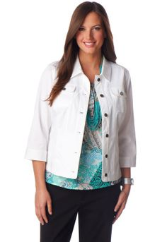 Hourglass Twill Jacket - Christopher & Banks