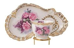 Pretty scone plate and cup Love these....very hard to find!