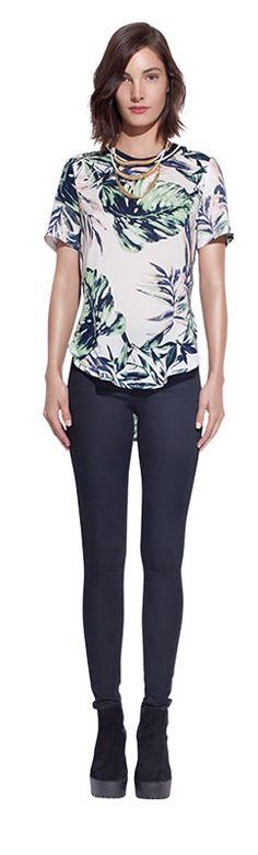 Black leggings & blouse