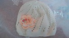 MelinetDecorCrochet / Dievčenská čiapka biela