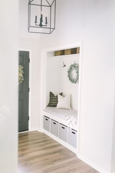Closet Mudroom DIY Closet Mudroom DIY Katie Lamb Save Images Katie Lamb DIY Closet Mudroom I created this space 100 on my own and you can too with my… – Mudroom Entryway Front Closet, Closet Mudroom, Entry Closet Organization, Closet Bench, Closet Small, Home Renovation, Home Remodeling, Entryway Decor, Bedroom Decor
