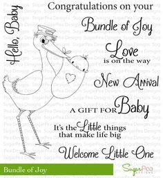 SugarPea Designs - Bundle of Joy stamp set