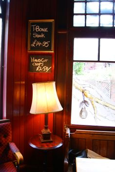 Cosy corner at the Pear Tree pub in London