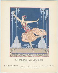 1920's art deco fashion plate.