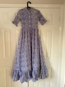 Vintage Laura Ashley 1970 S Maxi Dress Original Rare Made In Wales 60s