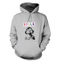 Banksy Tshirts PP - Banksy Smile Girl Adult Hoodie