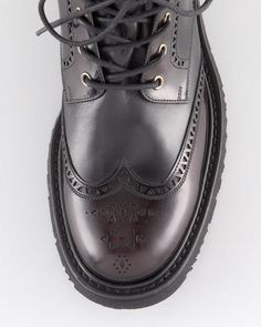 Prada - Wingtip Boots (Interesting Brogue)