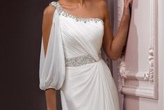 Google Image Result for http://casualweddingdresses.net/wp-content/uploads/2012/05/grecian_royalty_sheath_one_shoulder_sleeve_beach_wedding_dress_lindly_20111027082423_large-390x262.jpg