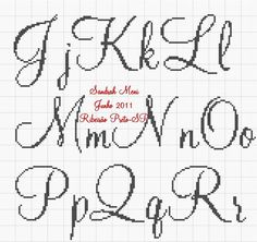 Oiieee!!!     Boa tarde amadinhas!!!     Como estou sem tempo para fazer gráficos de nomes e até mesmo alguns monogramas, estou postando pa...