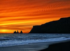 Red Sky from Vik, Iceland