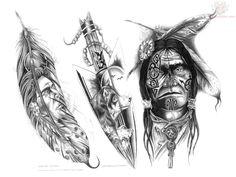 Cherokee Indian Tribal Tattoos | ... American Tattoo Pattern - 2013/05/11 - Tattoo #1634 ~ Semar88.Com