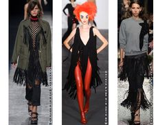 The Fringe trend as seen on the Rudsak S/S 2016 runway featured in other collection from this season.