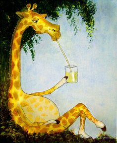 Gerald's Afternoon Sip by Angela Burman