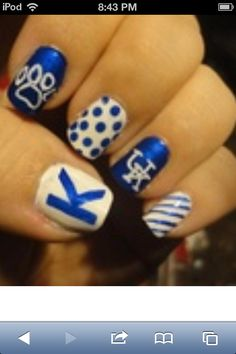 University of Kentucky nails wish I could do these.