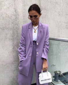 Street style fashion 425379127305177220 - Source by Lila Outfits, Purple Outfits, Mode Outfits, Classy Outfits, Casual Outfits, Fashion Outfits, Fashion Trends, Editorial Fashion, Fashion News