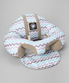 Another great find on #zulily! Blue & Gray Chevron Support Seat #zulilyfinds