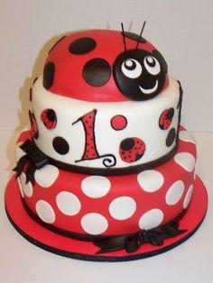 Ladybug Cake www.facebook.com/AbsolutelyCake www.absolutelycake.com