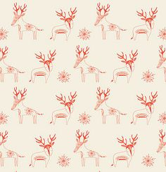 Carly's Reindeer Christmas Wrapping Paper Paper & cloth