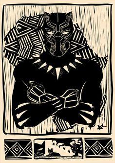 Black Panther by Andréia Carbonari Black Panther Images, Black Panther Art, Black Panther Marvel, Arte Black, Black Art, Marvel Art, Marvel Heroes, Black Panthers, Black Panther Tattoo