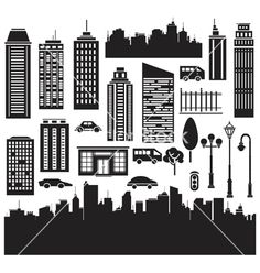 city buildings vector - Google Search