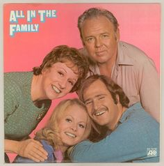 Vintage All in the Family TV Show LP Record Vinyl by smilehood Family Tv, All In The Family, Family Album, Family Theme, Family Humor, Sweet Sixteen, Norman Lear, 1970s Tv Shows, Plus Tv