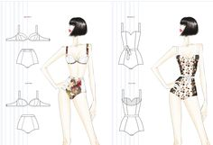 Studentessa: Sandrina Qokaj Corso: Stile beachwear Beachwear, Fashion Design, Beach Playsuit, Beach Outfits