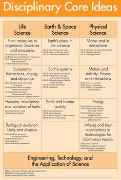 disciplinary core ideas - Google Search | Science Processes Skills ...