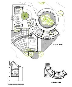 Home Design Drawings Casa URO - Picture gallery - Plan Concept Architecture, Architecture Design, Landscape Architecture, Public Library Design, Circular Buildings, Architectural Floor Plans, Plan Design, School Design, Designs To Draw