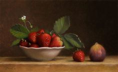 Bowl of Strawberries with Fig - Jonathan Koch