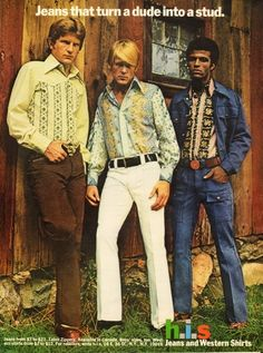 Ad for H.I.S. (w/ Nick Nolte)...I'm just amazed that the fine print says jeans from $7-$21!