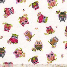 Pink Owl, Fabulous Fabrics, Fabric Shop, Uk Fashion, Haberdashery, Owls, Printing On Fabric, Plush, Quilts