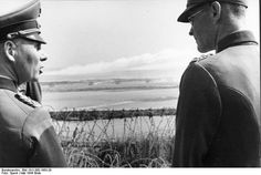 Rommel observing the Atlantic Wall near Ouistreham Normandy France late May 1944. Photo: Bundesarchiv Bild 101I-300-1863-29 Speck.