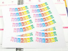 Weekend Banner Bold Planner Sticker for Erin Condren Life Planner (ECLP) Reminder Sticker by PlannerPress on Etsy https://www.etsy.com/listing/224101574/weekend-banner-bold-planner-sticker-for