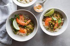 Crevettes à la thaïe | Christelle Tanielian | viande et poisson Saveur, Ratatouille, Asian, Guacamole, Mexican, Ethnic Recipes, Food, Meat, Curry Paste