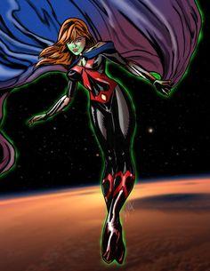 My original design of Miss Martian without the comic book cover layout. Dc Comics Women, Dc Comics Art, Comics Girls, Marvel Dc Comics, Superboy And Miss Martian, The Martian, Marvel And Dc Superheroes, Marvel Girls, Pretty Cure