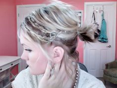 Girls Short Hairstyles Ideas: Braids and Ponytail