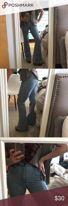 BDG Bell Bottom Jeans Super cute and comfortable BDG bell bottom jeans. One of my favorite pieces, only worn once or twice. A gem to have + definitely makes an ordinary outfit stylish! BDG Jeans Flare & Wide Leg