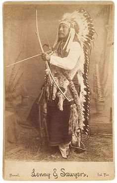 mustache pictures | ... moustache is dressed in full eagle feather war bonnet, holds a bow and