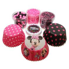 Disney Minnie Mouse Birthday Cake and Cupcakes.  I will probably have to go with something like this.