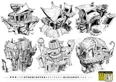 6 Creature House Concepts by STUDIOBLINKTWICE.deviantart.com on @deviantART