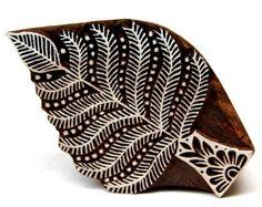 Indian Pine Tree Wood BLock Stamp Textile Printing BLock Hand Carved
